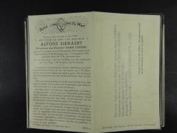 Alfons Sienaert épx Coppens Aaigem 18836 Bambrugge 1943 /022/ - Devotion Images