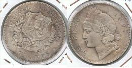 REPUBLICA DOMINICANA PESO 1897 PLATA SILVER - Dominicaine