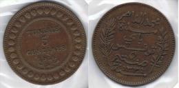 TUNEZ 5 CENTIMOS 1916 - Túnez