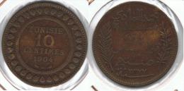 TUNEZ 10 CENTIMOS 1904 - Túnez