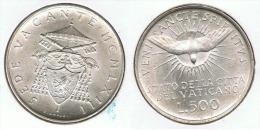 VATICANO SEDE VACANTE 500 LIRAS 1958 PLATA SILVER. D80 - Vaticano (Ciudad Del)