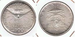 VATICANO SEDE VACANTE 500 LIRAS 1958 PLATA SILVER - Vaticano (Ciudad Del)