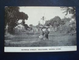 SIERRA LEONE : BERWICK Street, FREETOWN En 1911 - Sierra Leone