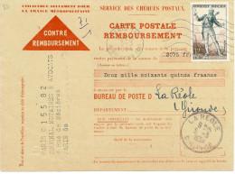 LGZ- FRANCE FIGARO 12f SUR CONTRE REMBOURSEMENT DE MARS 1954 - Tarifs Postaux