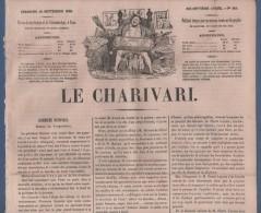 LE CHARIVARI 10 09 1848 - ASSEMBLEE NATIONALE MARRAST - PIERRE LEROUX - CABET ICARIE TEXAS - CHAM SEMAINE ILLUSTREE - 1800 - 1849