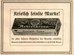 Original-Werbung/ Anzeige 1914 - KRIETSCH AEHRENKRONE BUTTER-KEKS  / WURZEN - Ca. 115 X 80 Mm - Werbung