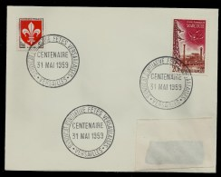 SYNDICAT D'INITIATIVE FÊTE VERSAILLAISES  . 31   MAI 1959 . VERSAILLES . - Poststempel (Briefe)