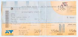 """Ticket Eintrittskarte Komiker """"100 Jahre Otto !"""" 17.11.2004 Waalkes Gasometer Wien Vienna Ostfriese Ostfriesland Bilet - Eintrittskarten"""