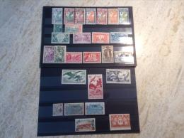 Guyane Française 1925-1947 Lot De 27 Timbres Neufs Diff. Série Oiseaux 1947,  Expo Inter 1937, Expo Col. 1931 Etc