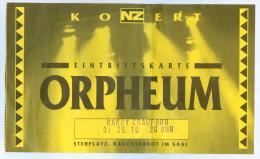 Ticket Randy Crawford Veronica Macon Jazz Soul Orpheum Graz Eintrittskarte Musik Konzert Concert Österreich Austria - Eintrittskarten