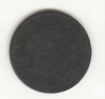 5 Centimos Espagne / Spain 1879 Alphonse XII - [ 1] …-1931 : Royaume