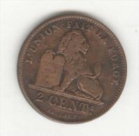 """2 Centimes Belgique / Belgium 1902 """"Leoplod II Koning Der Belgen"""" TB+ - 1865-1909: Leopold II"""