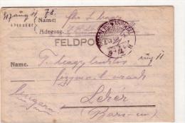 Alte Feldpost- Brief  1. Weltkrieg - Details Siehe Scann - 1917 - War 1914-18