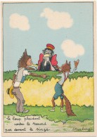BARRE DAYEZ - Le Loup Plaidant Contre Le Renard Par Devant Le Singe - CPSM 10 X 15 Cm - Other Illustrators