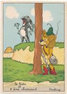 BARRE DAYEZ - Le Lion Et L'Ane Chassant - CPSM 10 X 15 Cm - Autres Illustrateurs