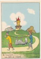 BARRE DAYEZ - Le Meunier, Son Fils Et L'Ane - CPSM 10 X 15 Cm - Autres Illustrateurs