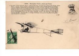AVIATION----Monoplan Train Piloté Par TRAIN....---voir 2 Scans - Aviadores