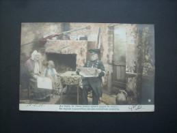 Au Logis Le Vieux Brave Ayant Gagné La Croix...   - étoile   Circulée 1906  L205A - Patriotic