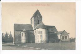 Carte  De  BRULON   L´ église   ( Recto Verso ) - Brulon