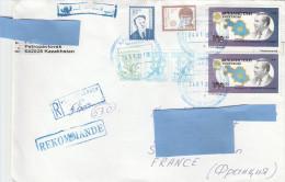 H] Enveloppe Recomandé Registered Cover Kazakhstan Usage Courant Definitive 2003 - Kazakistan