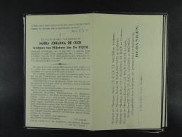 Maria De Cock Vve De Rijck Aaigem 1870 1947 /037/ - Devotion Images