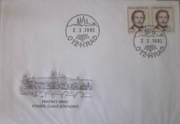 République Tchèque - Enveloppe - Prazsky - 1993 - Tchéquie