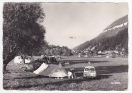 La Cluse - Camping Du Lac (toiles De Tente, Caravane, Dauphine Renault, Coccinelle Volkswagen) Circulé 1964 - France