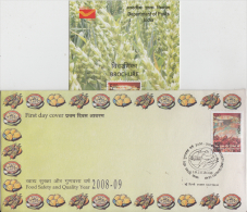 Indoia 2008  Food Safety & Quality Year  Eatables  First Day Cover   # 84831  Inde  Indien - Food