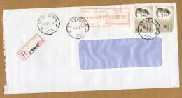 Enveloppe Cover Brief Aangetekend Registered Recommandé St Servais - Belgique