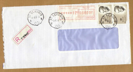 Enveloppe Cover Brief Aangetekend Registered Recommandé St Servais - België