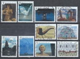 BELGIE  JAAR 2014  10 ZEGELS UIT BOEKJE MAGRITTE - Used Stamps