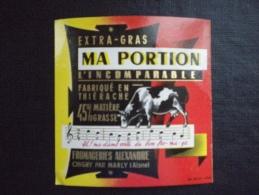 Ancienne étiquette De Fromage Neuve Thiérache Aisne 02 , L'incomparable Fromageries Alexandre Chigny Par Marly  Vache , - Fromage