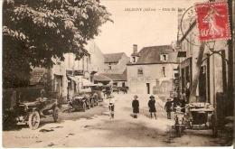 """Jaligny : Rue Du Pont """" Vieille Voiture,moto """" - Non Classés"""
