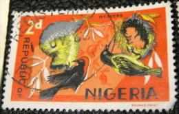 Nigeria 1965 Birds Weavers 2d - Used - Nigeria (1961-...)