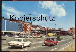 ÄLTERE POSTKARTE KIEL HAUPTBAHNHOF UND ZOB Autos Bus Ford Mercedes Bahnhof Gare Station Ansichtskarte AK Postcard Cpa - Kiel
