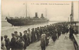 TRANSPORT PAQUEBOT A VAPEUR : Sortie Du Transatlantique LA SAVOIE - LE HAVRE - Dampfer