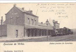 Environs De Virton Station Frontiére De Lamorteau Avec Train Circulée En 1903 - Rouvroy