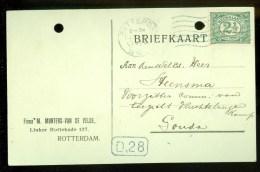 WW-1 * HANDGESCHREVEN BRIEFKAART COMITE VLUCHTELINGEN Uit 1916 Van ROTTERDAM Naar GOUDA (9819h)) - Periode 1891-1948 (Wilhelmina)