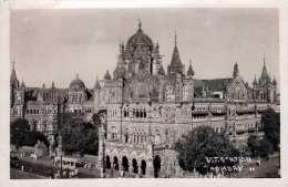 BOMBAY 1959 - V.T.STATION, Fotokarte Gel.v.Bombay > Kromeriz - Indien