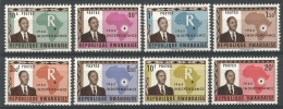 RWANDA 1962 - Independence Du Rwanda, Président Kayibanda - 8 Val Neuf // Mnh - Rwanda