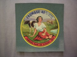 FROMAGE 40% MATIERE GRASSE FABRIQUE DANS LES VOSGES-88-N - Cheese