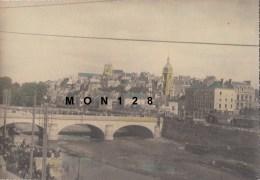LE MANS (72)  GUERRE 39-45 -LIBERATION DU MANS AOUT 1944 - LE PONT GAMBETTA - PHOTO ORIGINALE CARTONNEE - Le Mans