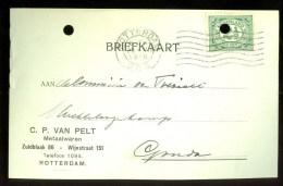 WW-1 * HANDGESCHREVEN BRIEFKAART COMITE VLUCHTELINGEN Uit 1916 Van ROTTERDAM Naar GOUDA (9819o) - Periode 1891-1948 (Wilhelmina)