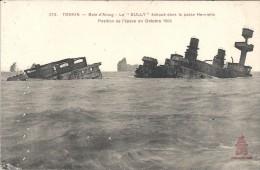 TONKIN - VIET-NAM - Baie D'Along - Le SULLY échoué Dans La Passe Henriette - ENCH** - - Viêt-Nam