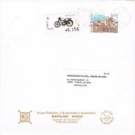 13390. Carta SALAMANCA 2002. Fechador Exfilna Y Viñeta Al Dorso - 1931-Hoy: 2ª República - ... Juan Carlos I