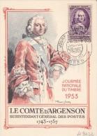"""14.3.1953  -  SSt-Beleg (Carte Postale)  """"Journee Du Timbre 1953, Algerie""""  -  Siehe Scan (fr 9122) - Algerien (1924-1962)"""