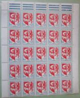 France - Partie Haute Feuille 25 Timbres Auch ** - YT 1468 - Armoiries - 1966 - 1941-66 Armoiries Et Blasons