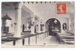 ST NAZAIRE   -  Intérieur De L'Eglise Carte Rare.. - France