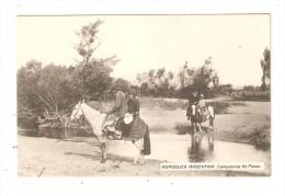 CPA  Argentine - REPUBLICA ARGENTINA  - Campesinos De Paseo : Argentins Traversant Un Ruisseau à Cheval - Argentine