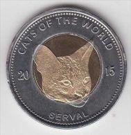 PUNTLAND 25 Shillings 2015 Cat Cats - Serval - Bimetal,  Unusual Coinage - Monete